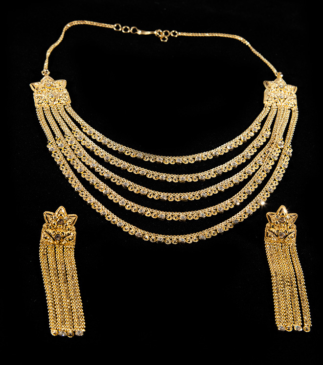 gold set product indian forever necklace carat grams